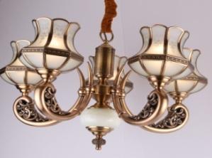 东韵达观D9012-05铜本色室内吊灯