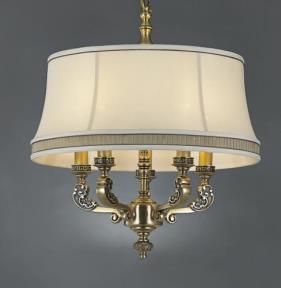 星豪铜府现代室内MD3109-5P铜本色吊灯