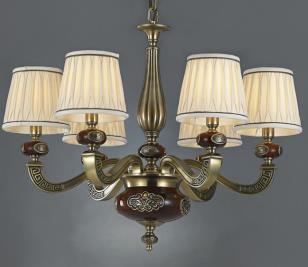 星豪铜府现代室内MD3108-6铜本色吊灯