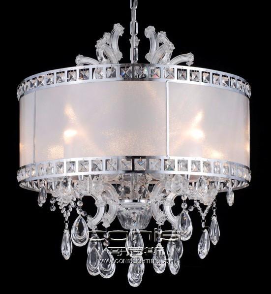 现代简约客厅布罩吊灯