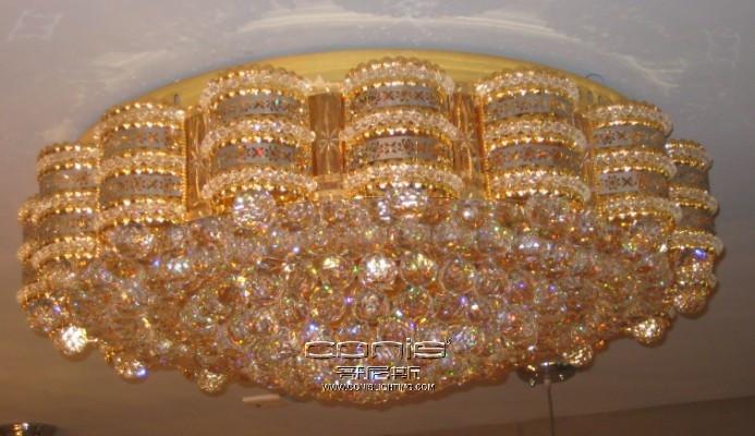 现代奢华水晶客厅吸顶灯