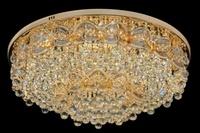 摩尔阁·铁菲灯饰奢华LED金色水晶灯吸顶灯客厅灯大堂灯现代简约水晶吸顶灯