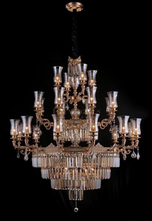 维利亚全铜法式水晶灯95925/12+8+4客厅餐厅卧室酒店别墅吊灯
