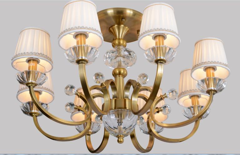 美式仿铜工艺客厅吊灯