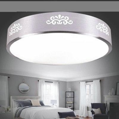 企迪现代简约LED亚克力15w室内圆形菊花吸顶灯35cm调光