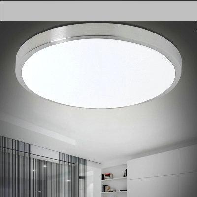 企迪现代简约LED亚克力24w室内圆形吸顶灯无极调光