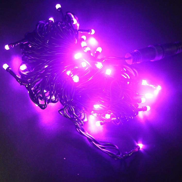 2.0全铜线LED工程串灯公母接10米50灯LED灯串