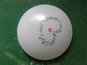 简约亚克力商场圆形正白暖白LED吸顶灯