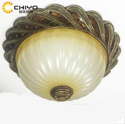 欧式复古优质树脂圆形扭纹卧室吸顶灯