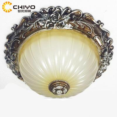 欧式复古优质树脂圆形花纹围绕卧室吸顶灯
