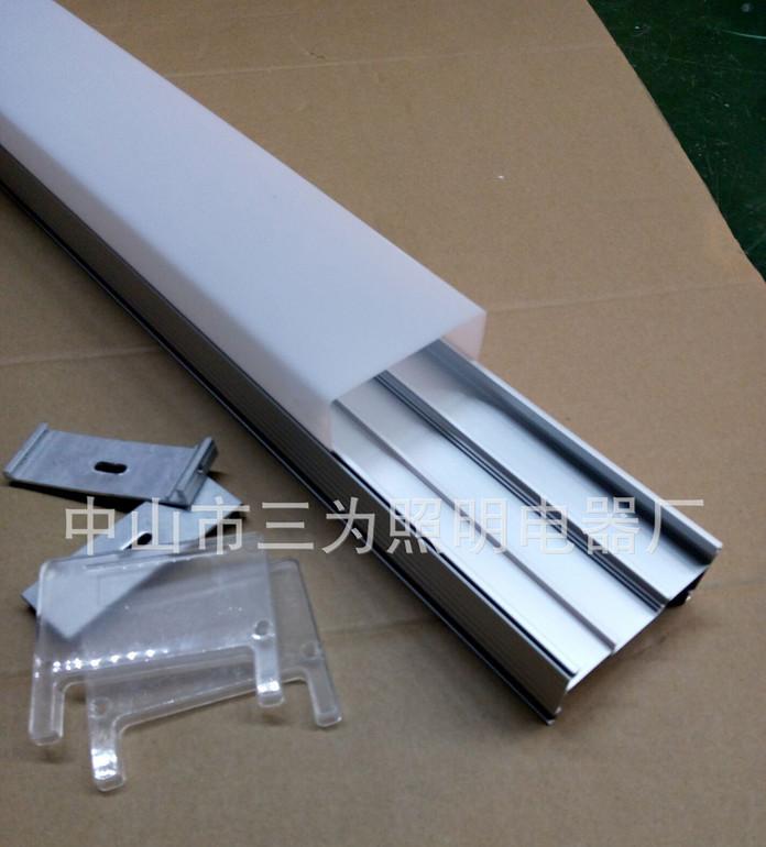 80*65护栏管外壳带铝槽方形护栏管