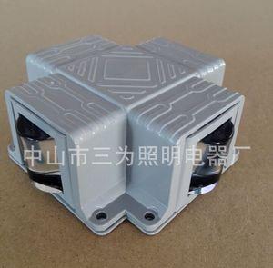 大功率铝材方形简约户外灯柱楼梯十字壁灯LED壁灯
