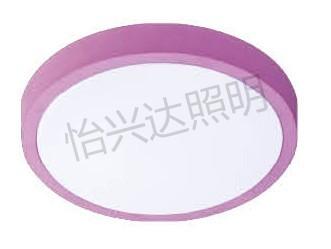 简约卧室客厅粉色圆形LED吸顶灯