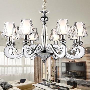 现代简约卧室餐厅水晶吊灯