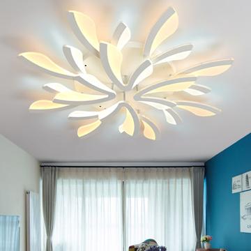 现代简约个性客厅15头白色装饰吸顶灯