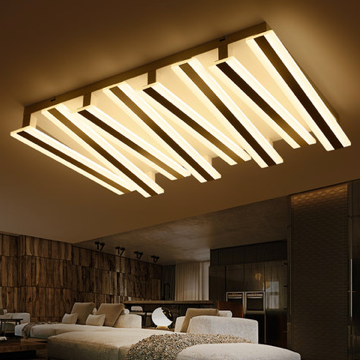 现代简约54W白光客厅凹凸长方形吸顶灯