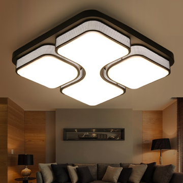 现代简约客厅亚克力正方形白光吸顶灯