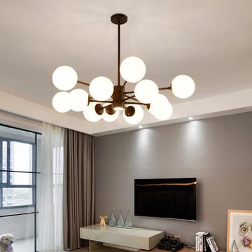 北欧风格客厅圆形球吊灯