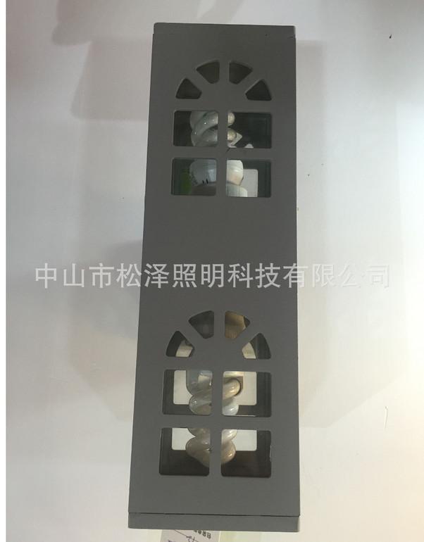 现代创意LED长方形双头镂空户外过道壁灯