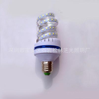 LED横插路灯户外光源新款螺旋12W2835贴片E27/B22节能灯