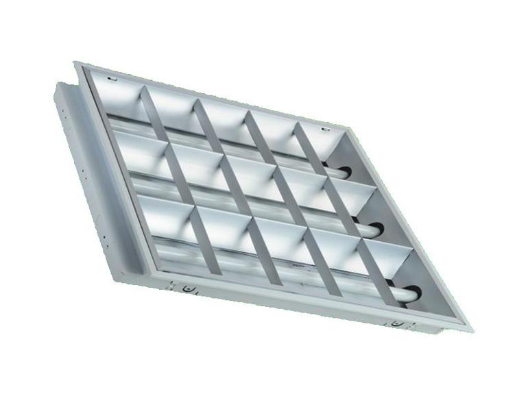 防锈防腐嵌入式T8 LED格栅灯盘