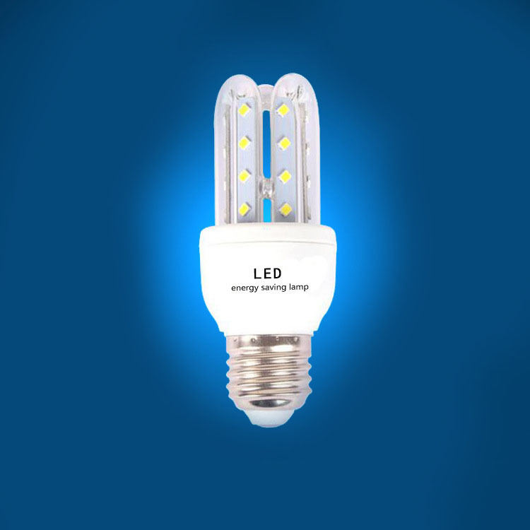 LED横插路灯户外光源3U5W2835贴片U型E27/B22玉米灯节能灯