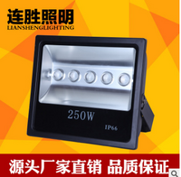 最新方形250W投光灯外壳带透镜 压铸铝灯外壳