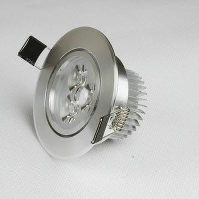 大功率高光LED 3*1W天花灯外壳套件 中环扣式
