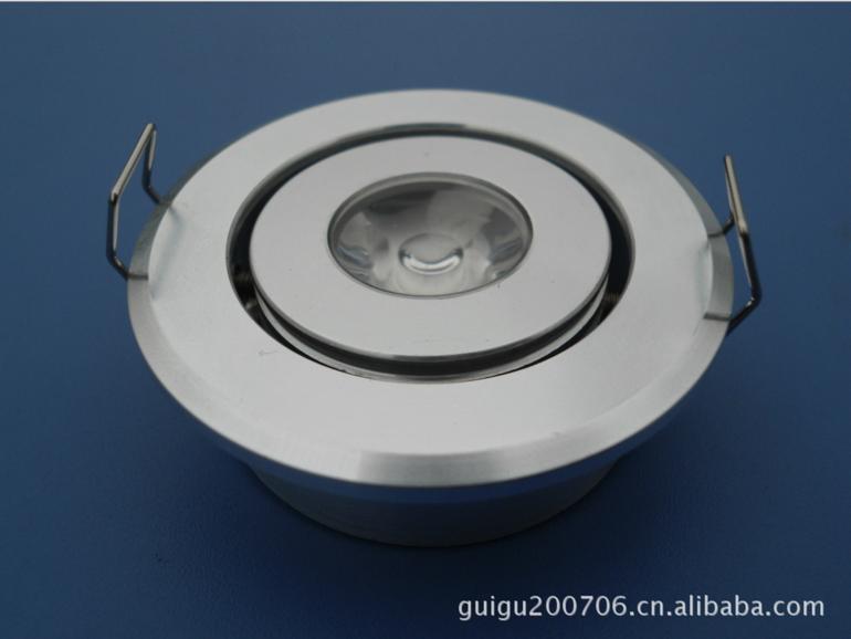 优质LED天花灯 大功率吸顶灯1W 52外径高光款