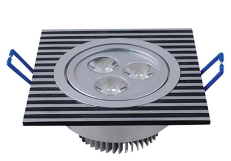 大功率LED 3w天花灯外壳 黑白间条外壳
