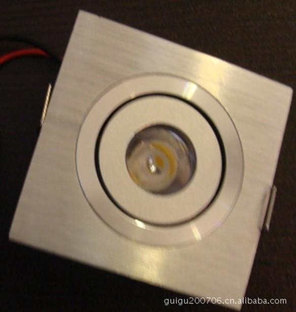 天花灯大方块4/3/2/1头1*1W LED射灯/大功率LED灯外壳