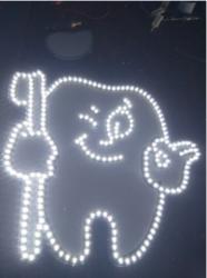 逸扬水晶字 发光字 广告招牌 标识 店铺 导光性强、质量轻 有水晶质感