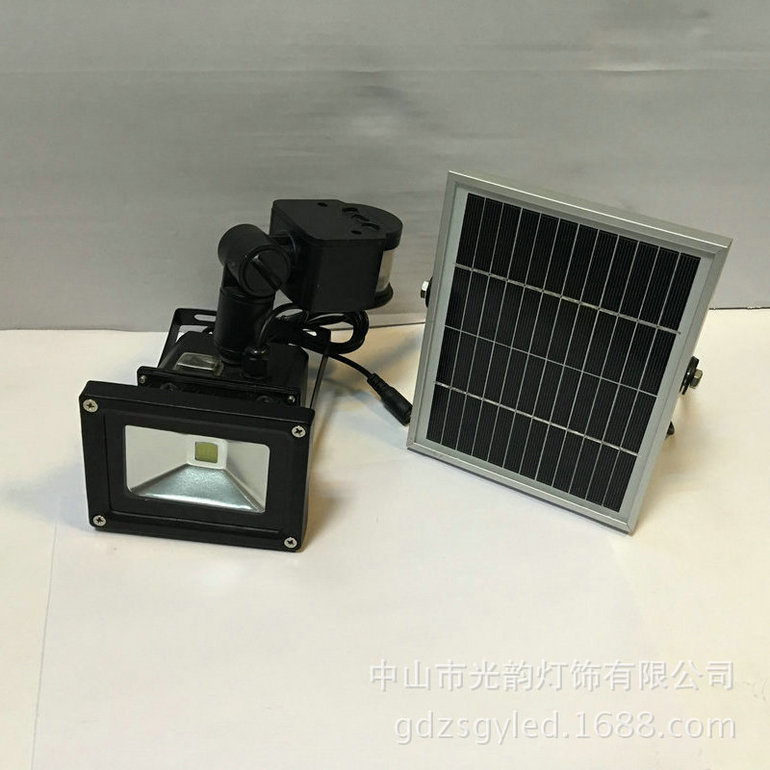 专业太阳能LED人体感应投光灯