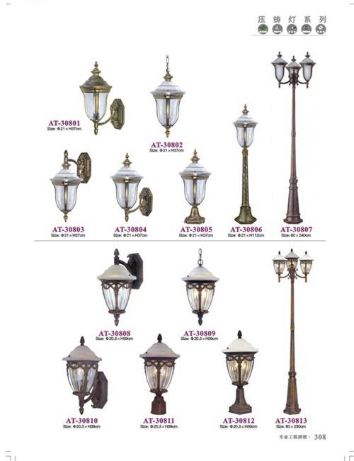 欧式复古庭院灯压铸配套308系列