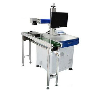 单向打印激光打标机流水线激光飞行打标机自动喷码机
