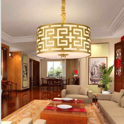 新中式吊灯客厅卧室餐厅灯复古温馨吸吊灯