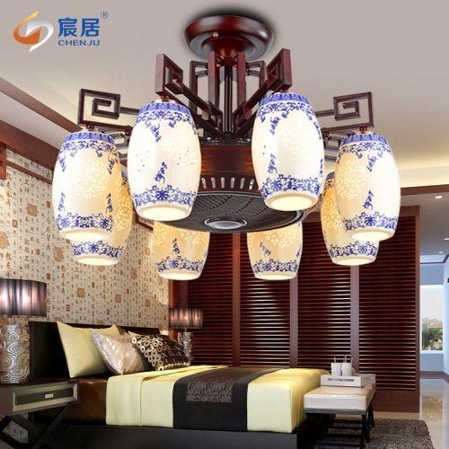 LED负离子风扇灯餐厅客厅包间空气净化吊扇灯