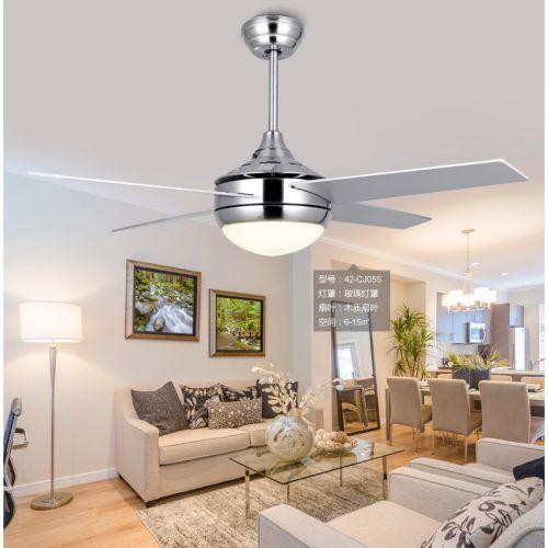 LED现代创意风扇灯卧室客厅餐厅新式风扇吊灯