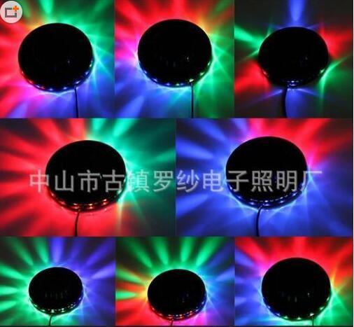 现代舞台声控七彩旋转LED舞台灯