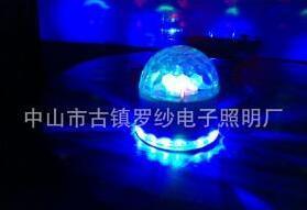 现代室内声控LED七彩旋转激光舞台灯
