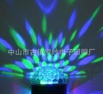现代室内蘑菇七彩旋转水晶LED舞台灯