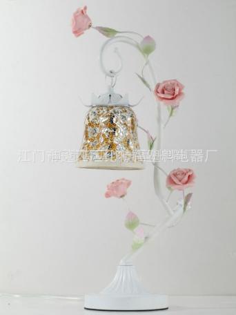 荆江欧式田园玫瑰花卧室床头简约现代台灯
