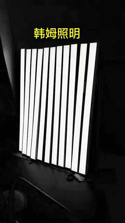 现代黑白长方形室内平板灯