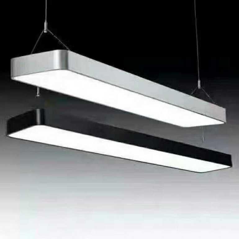 现代简约黑白室内长方形平板灯