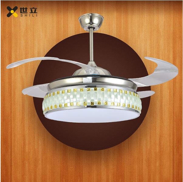 现代亚克力吊扇遥控隐形风扇灯