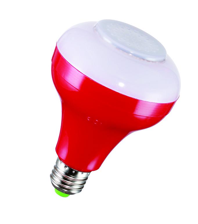 白、红、绿、黄5W蓝牙音乐灯泡