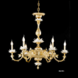 La蜡烛灯现代纯铜镀金陶瓷吊灯