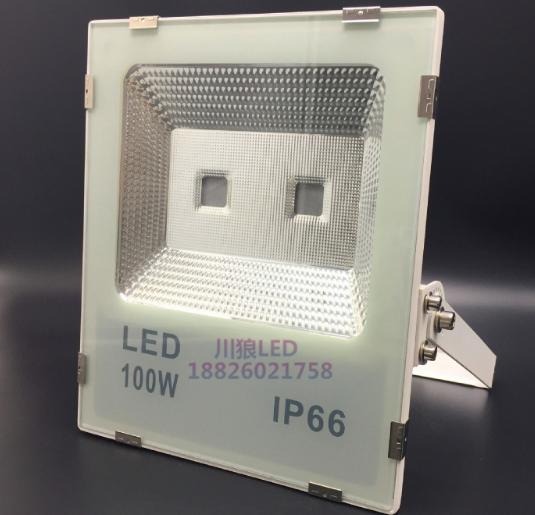 现代简约铝合金长方黑金100W投光灯外壳