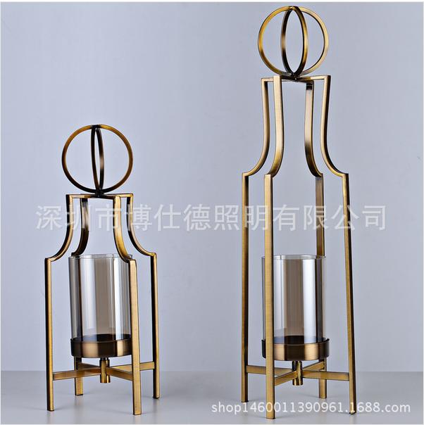现代室内钢材玻璃台灯