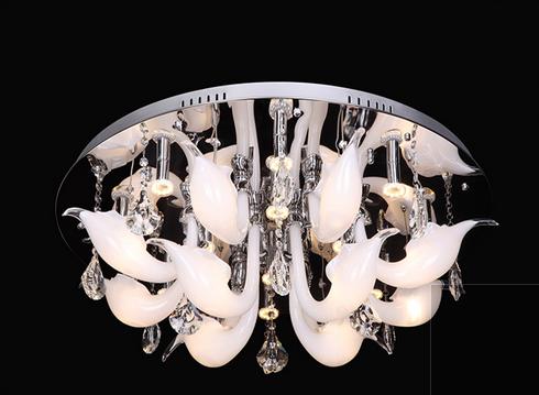 蓝色星空现代室内KX9033/20+16玻璃吊灯